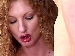 Blonde Chick Giving Handjob Outdoors