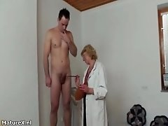 Nasty Mature Slut Is On Her Knees With Huge Cock In Her