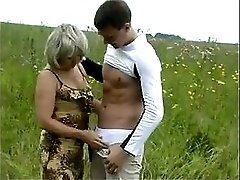 Mature Mom And Her Boy On Nature Russian Amateur