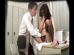 Japanese Girl Who Steals It And Is Blamed By A Guard