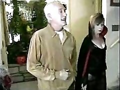 Old Man Fucks Teen After The Haunted House