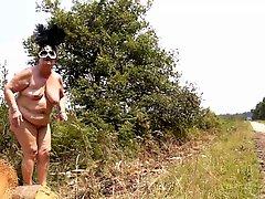 Granny Brenda Nude Outdoor