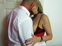 British Mature Lady Sucks And Fucks Her Boy