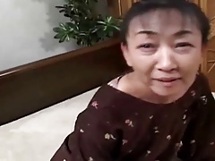 54yr Old Hairy Japanese Granny Still Craves Cum Uncensored