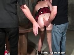 Horny Busty Sexy Butt Nasty Brunette Whore Gets Bondage