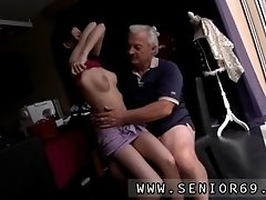 Horny Senior Bruce Spots A Super Cute Gal Sitting Behin