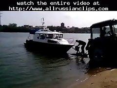 Boat Trip Over Sex Russian Cumshots Swallow