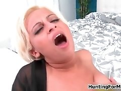 Busty Blonde MILF Gets Horny Getting Her Pussy Licked B