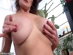 Nasty Mature Slut Gets Horny Taking Her Clothes Off And