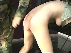 Hard Spanking Turns This Slave Soldier Girl S Ass Bright Red In Dungeon