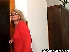 Mother In Law Fucks Him And Wife Comes In