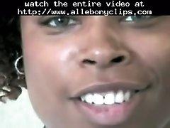 Ebony Cutie Giving Hand Job Big Nut Black Ebony Cumsh