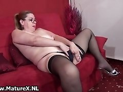 Dirty Mature Woman Getting Naked And Touching Her Fat D