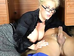 Office MILF Lana Cox Wanks Off Her Handyman 27s Big Hard Jizz Tool