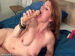 Nasty Mature Woman Goes Crazy Riding A Dildo By Maturex