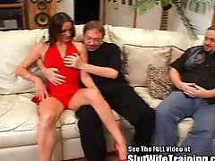 Sexy Lady In Red Double Fucked At Dirty Ds