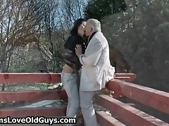 Grey Senior Gets His Dick Sucked By A Cute Teen Girl Ou