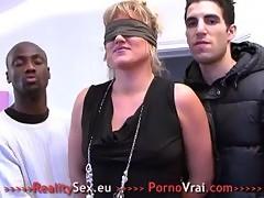 Mature En Gang Bang Prise Par Tous Les Trous French Amateur