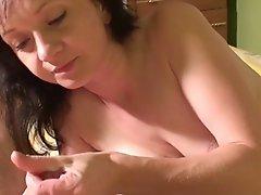 Beautiful MILF Milks His Cock Dry