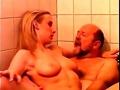 Young Blonde Teen Girl Sucking And Fucking Old Man