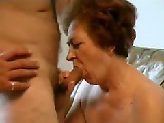 Granny Sucking Cock And Taking Load Face