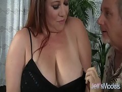Chubby MILF Rubee Gets Her Plump Pussy Filled