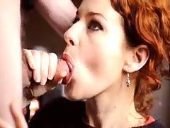 Camille Crimson Gives Sensual Eye Contact Blowjob