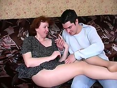 Russian Mature Mom In Pantyhose And Her Boy Amateur