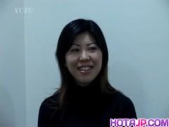 Sayuri Puts Vibrator On Hard Penis Before Riding It Well