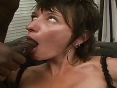 Short Haired MILF Zaza Lacoquine Anal Interracial