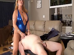 Step Mom Facesits Cuck In Bathsuit