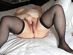 Old Fat Lady Masturbating To Orgasm