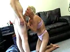 Granny Sucks Fucks And Swallows