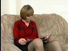 Nice Nipples On Little Titties Mature In Stockings Again