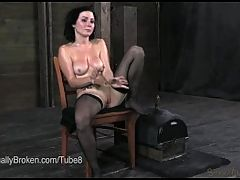 Milf Sheila Marie Bound And Fucked By Black Cock