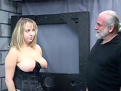 Old Man Dom Pulls Chubby Sub S Hair And Smacks Her Big Tits