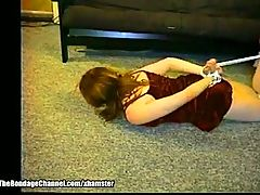 Old Creep Hogties Young Girlfriend
