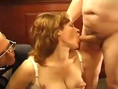 Submissive Ginger Wife Fucked After Hours