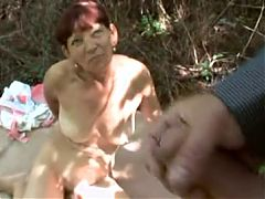 Emilia Hairy Granny Outdoors POV Fucking With Facial