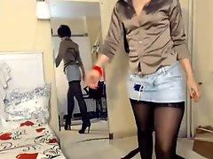 Redhead MILF In Pantyhose