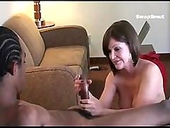 Guy Coaches His Horny Wife On How To Fuck His Buddy While He Films Her 21 21