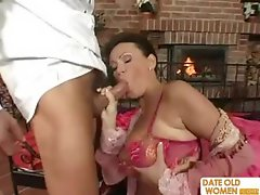 Exotic Sexy Looking Mature Gets The Cock In Her Pussy And Her Mou