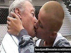 Bald Teen Babe Suck An Old Dick