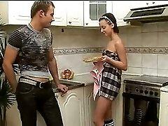 Cute Russian Teen Brunette Girl Alina Hard Anal Fuck