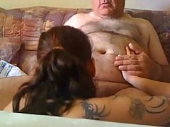 Lovely Grandpa Gets Sucked Off