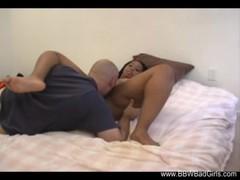 Interracial Ebony MILF Tease Handjob