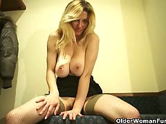 Mature Soccer Mom With Big Tits Masturbates Compilation