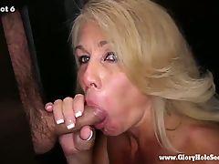 Gloryhole Secrets Mature Blonde Sucks Strangers Cocks 2