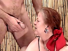 Two Lesbian Granny Fuck With A Men