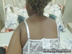Amateur Busty Ebony MILF Is Looking For Some Big Cock On Cam